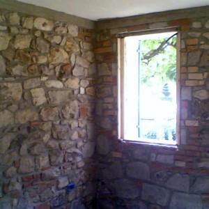 Microsabbiatura di pareti in mattone faccia a vista