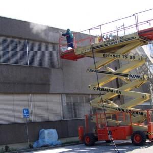 Microsabbiatura facciate esterne di stabilimenti industriali