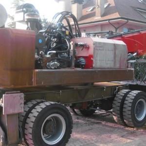Sabbiatura e verniciatura di macchine operatrici