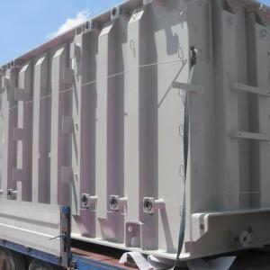 Sabbiatura di container: il lavoro finito