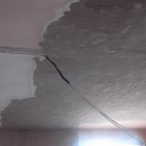 Idrosabbiatura di pareti interne e soffitti